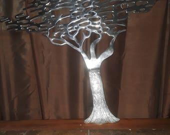 Bijan? Aluminum tree wall decor large.