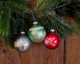 3 Antique Christmas Ornaments Christmas Decorations vintage Christmas decor Vintage Christmas Tree Ornaments