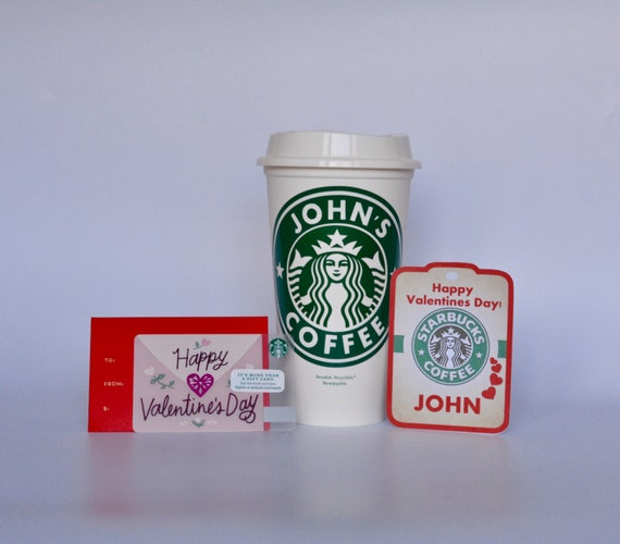 Valentine Starbucks Cup With A Starbucks Gift Card Starbucks Etsy