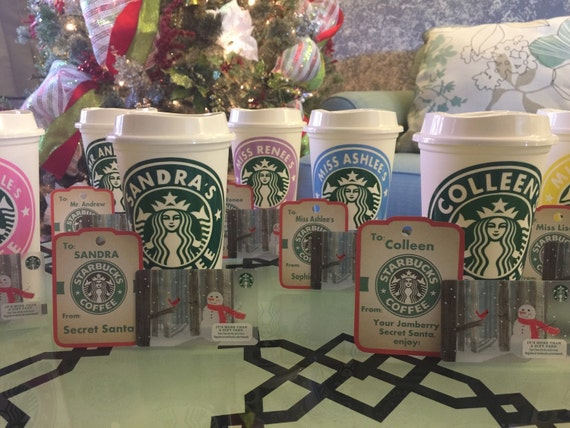 Custom Starbucks Cup With A Starbucks Gift Card Starbucks Etsy