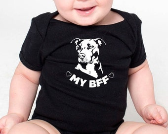 Newborn Baby Organic Coverall I Love My Pitbull Staffy Terrier Dog-1 Baby Rompers
