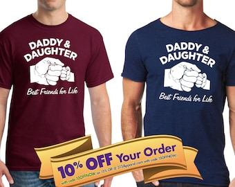 993f430a daddy daughter shirt | best friends for life fist bump shirt | father's day  or birthday gift