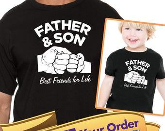 father & son best friends for life adult shirt / kids shirt or bodysuit (romper) VAeo2b8Q