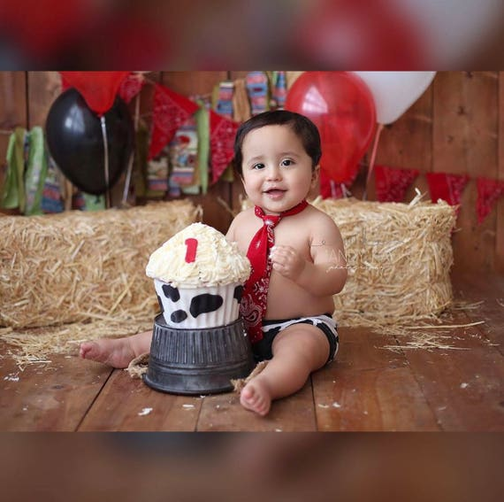 First Birthday Western Rodeo Cowboy Cake Smash Outfit Cowboy Etsy
