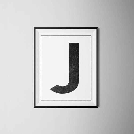 photo about Letter J Printable identify Fast Obtain Letter J Printable Monogram, artwork print 8x10
