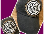 Monogram Cap Cheetah