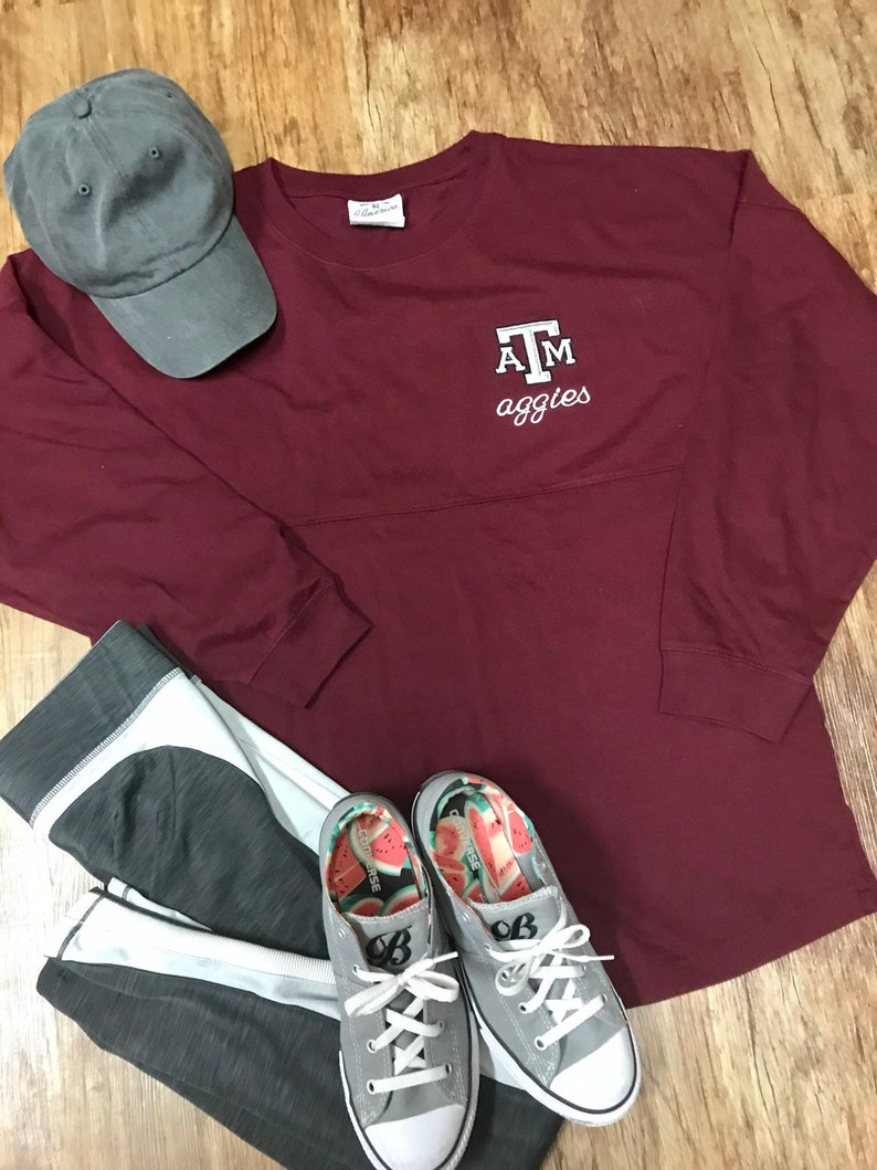 Texas A/&M Aggie Oversized Game Day Jersey Tunic