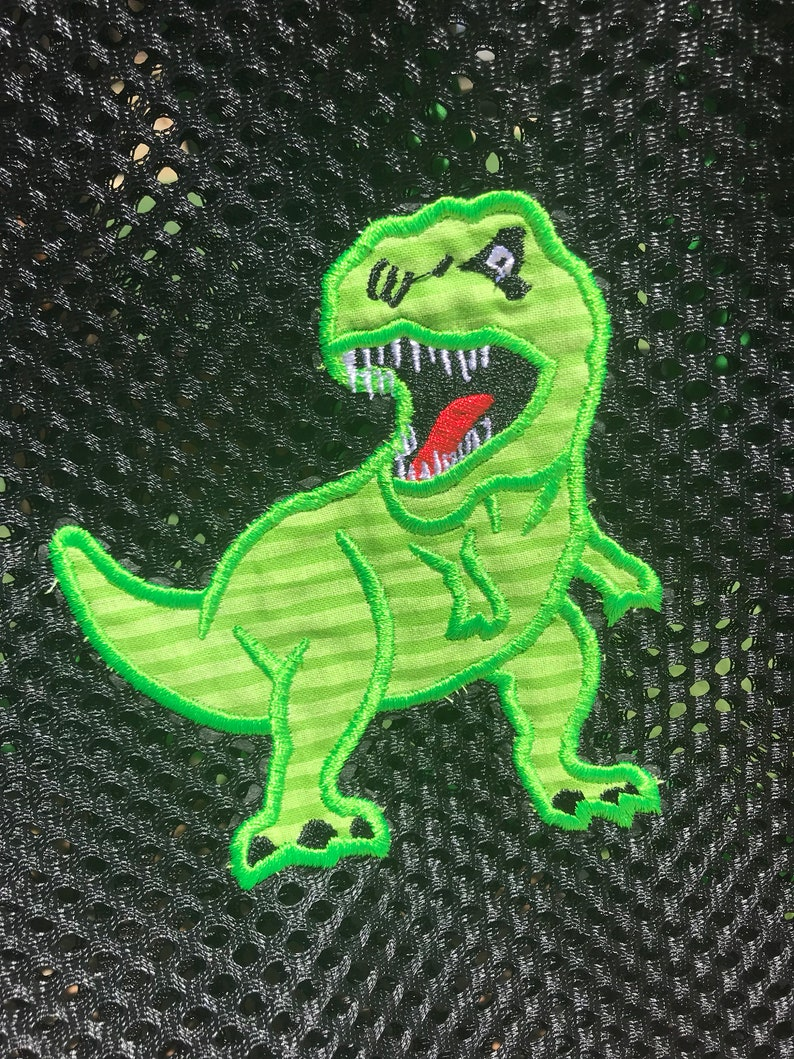 Mesh Backpack with Dinosaur TRex and Name