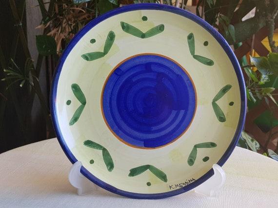 Piatto di ceramica siciliana fatto a mano piatto da parete etsy