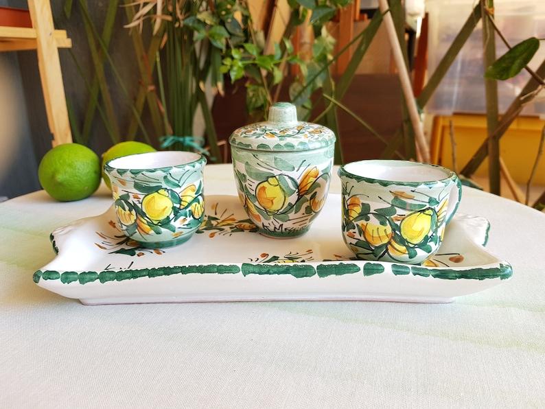Servizio da caffè in ceramica siciliana decorata a mano etsy