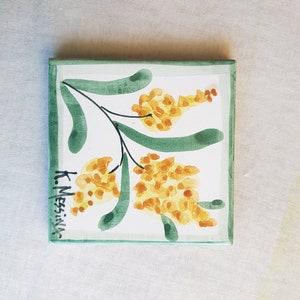 Hand-decorated ceramic butter pot Handmade Sicilian ceramic butter dish The ceramics of Ketty Messina.