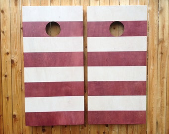Cornhole Game by Colorado Joes Candycane Stripes (Dr. Seuss Inspired)