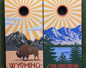 Cornhole Game by Colorado Joe's Wyoming Sunburst and Colorado Sunburst