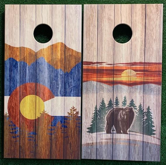 Cornhole Game by ColoradoJoes BlackWhiteRed