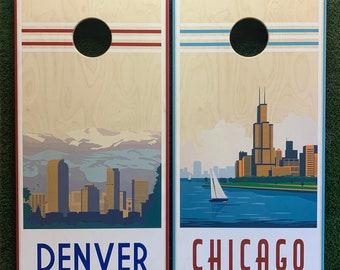 Cornhole Game by ColoradoJoes Retro Denver and Chicago