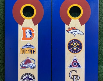 Cornhole Game by ColoradoJoes Denver Sports Teams Old School and New School