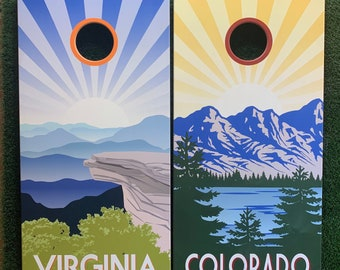 Cornhole Game by Colorado Joes Virginia and Colorado Sunburst