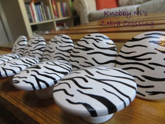 Grand Zebre Boutons De Tiroir Pour Commode Boutons A Motifs Etsy
