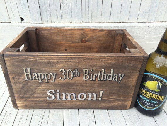 30th Birthday Gift For Him Beer Crate Mens Personalised
