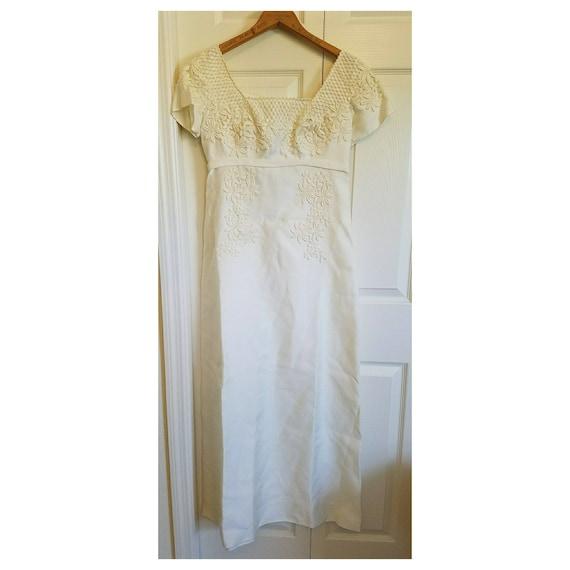 Vintage 60s flower child wedding dress - bridal or