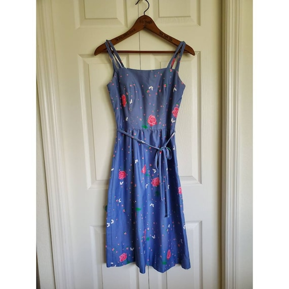 Vintage Malia of Honolulu sun dress - periwinkle f