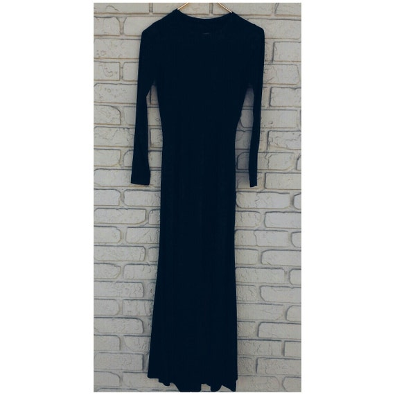 Vintage Betsey Johnson Alley Cat black maxi dress