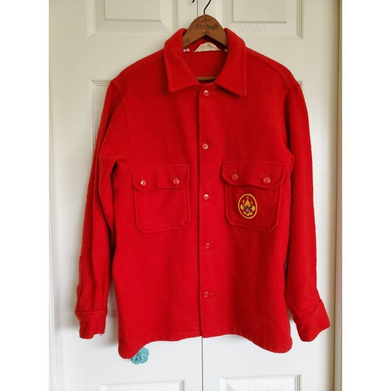 Vintage Wool Official Boy Scout Jacket with patch