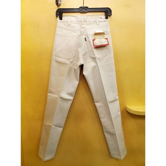 Vintage Levi's pre 1971 Big E off white sta-prest