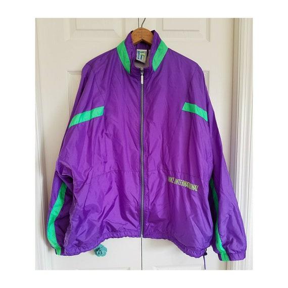 Vintage Nike international windbreaker 80s purple