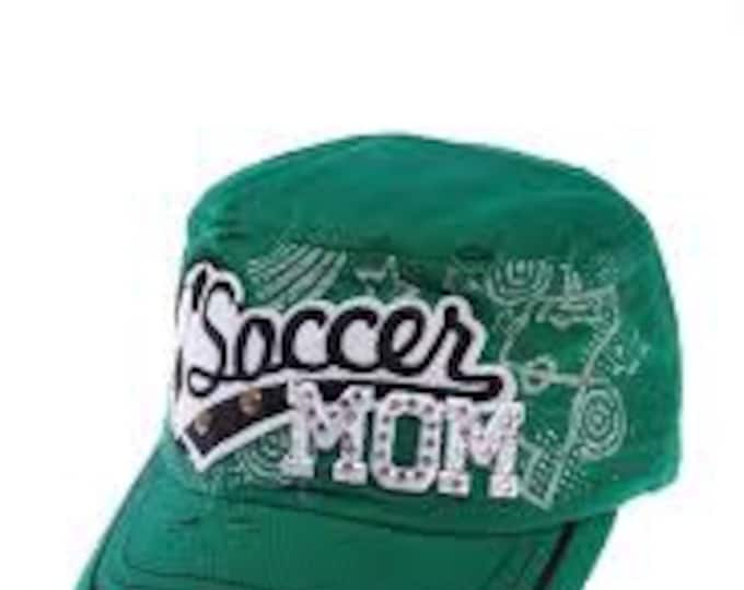 fa41bf9958a Green Soccer Mom Cadet Hat... Perfect Cap for any Soccer mom or Team
