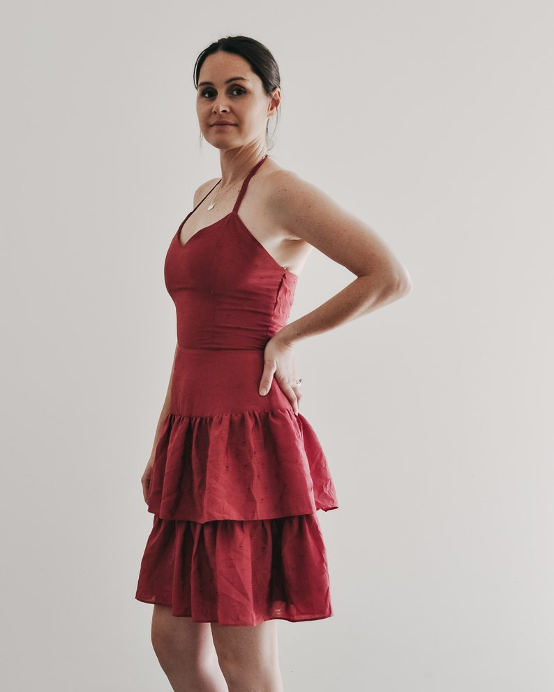 Vintage 80/'s Pink Halter Dress Gabi Harkham