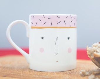 Classy Lady Bone China Mug - Pink Lady Mug - Gift for home - Gift for tea drinker - Mothers Day Gift - Housewarming gift - Kitchen homewares