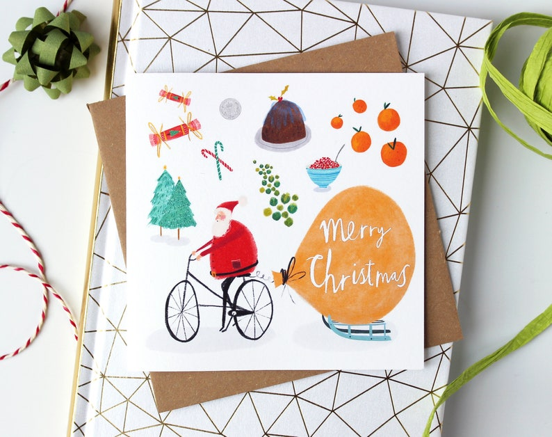 Festive Pack of Christmas Cards  Pack of quirky Illustrated image 0
