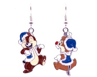 c7d64d7ac Disney Inspired Chip And Dale Snow Day Earrings