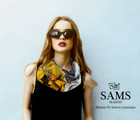 Ref: K16, printed silk snood in Lyon