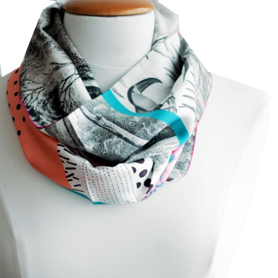 Ref: K6, printed silk snood in Lyon