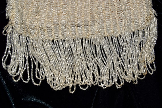 1930s Ivory-Colored Beaded Flapper Purse - image 7