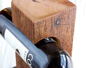 "Custom Wine Rack, c.1800 Barn Wood, Made-To-Order, Free Standing, ""Rough"" Dark Barnwood, Reclaimed Barn Wood and Steel"