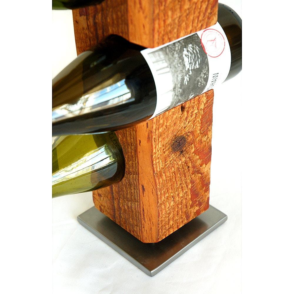 Wine Rack From Late-1800s Vermont Barn Wood Custom-Made