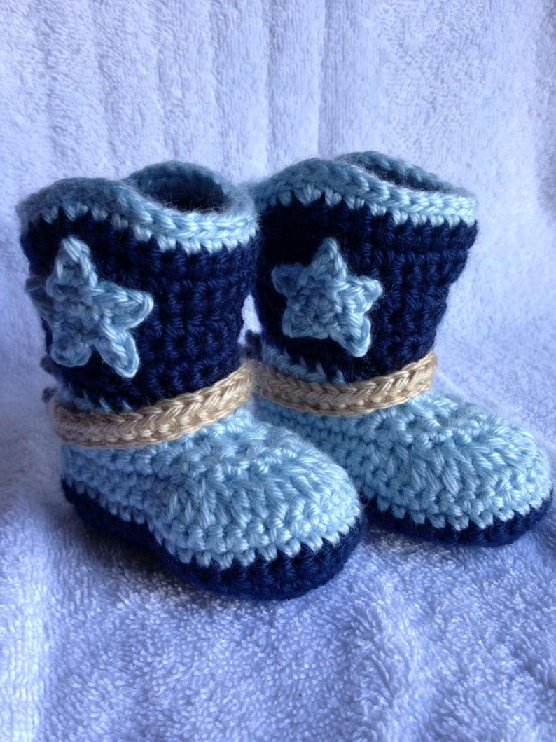 Crochet Baby Cowboy Boots Newborn Cowboy Boots Baby Gift Etsy