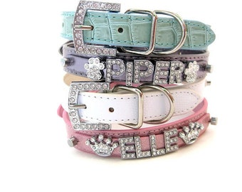 c20cbc7ceb844 Bling Dog Collar | Gifts for pets | Pastel Collection | XXS XS S M L XL |  Personalized Dog Collar