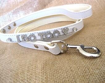 Wedding Dog leash | I Do Too leash | elegant wedding decor | White Leash | White, Ivory, Pink, brown, or silver | Wedding Leash