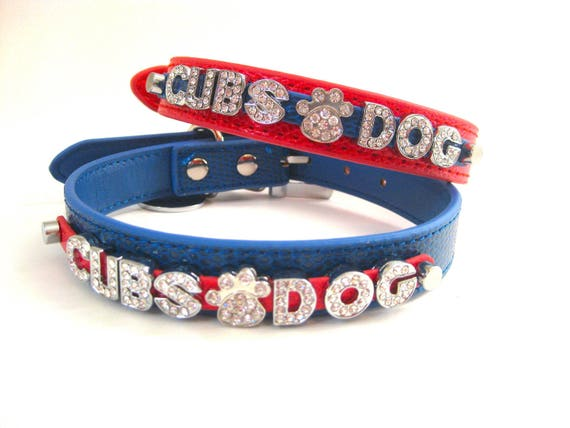 the best attitude 5a21e 3d967 Cubs Dog Collar | Chicago Cubs |Chicago Dog Collar | Choose Red or Blue!  XXS XS S M L XL