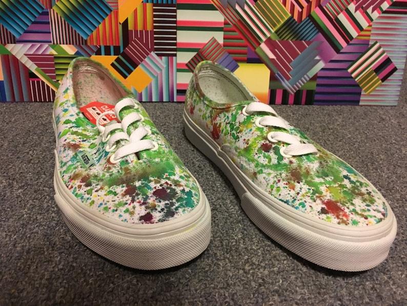 615d337fc9e Vans Size 4.5 Splatter Dyed