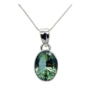 Gorgeous 13ct Emerald Cut Alexandrite Sterling Silver Solitaire Pendant Necklace Color Change Alexandrite Necklace large June Birthstone Gif