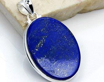 Dainty Pendant Silver Pendant 925 Solid Sterling Silver Gifts Women/'s Jewellery FSJ-5360 Lapis Lazuli Pendant Lapis Jewelry Blue Quartz