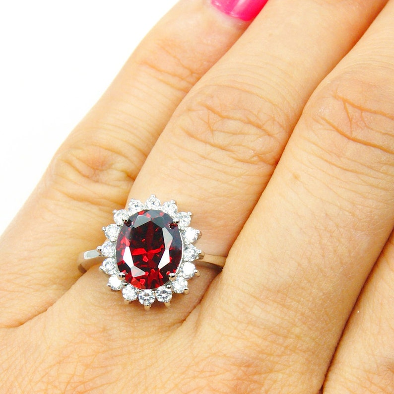 925 sterling Silver crystal travel fake engagement costume ring size 5 6 7 8 9