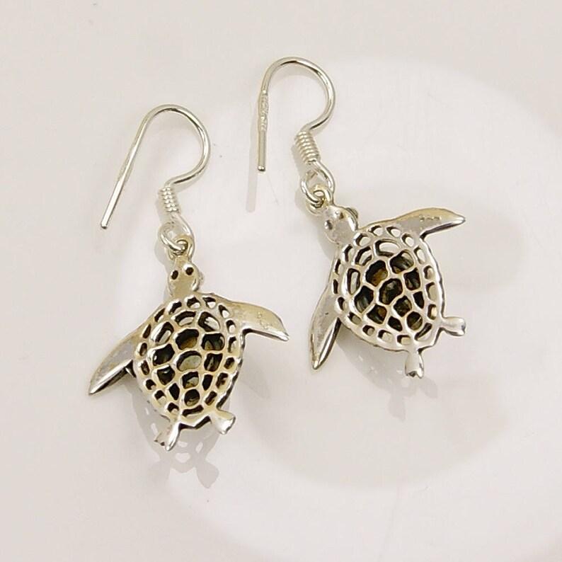 Pearl Earrings Sterling Silver Dangle Earrings Earring Jewelry AF352 Gift The Silver Plaza Turtle Earrings