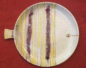 Vintage mid century modern Raymor Bitossi Italy fish plate