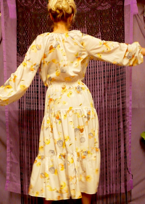 1970's Prairie Folk Summer Maxi-Dress
